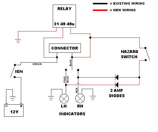 Hazard Switch Wiring - Wiring Diagrams on