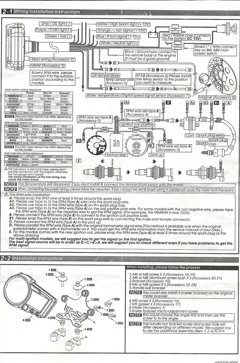 Koso Wiring Diagram   Wiring Liry