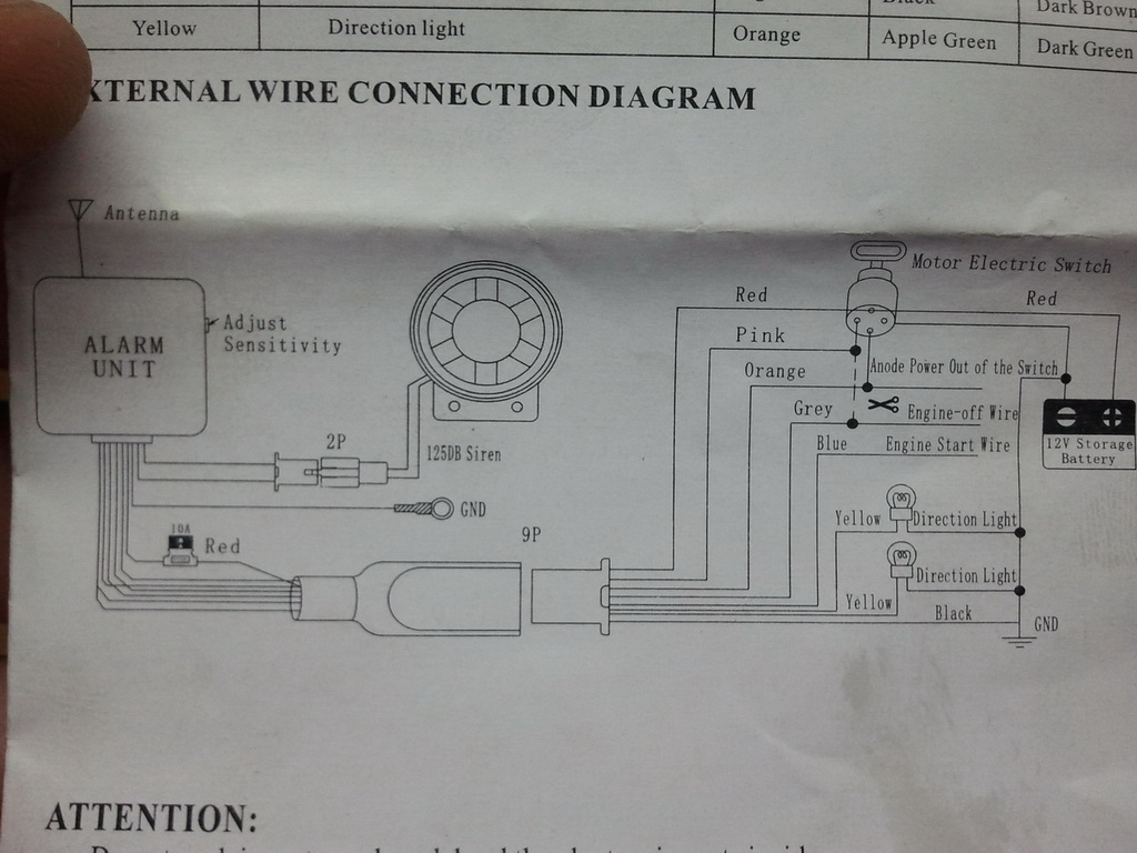 Cyclone Bike Alarm Wiring Diagram