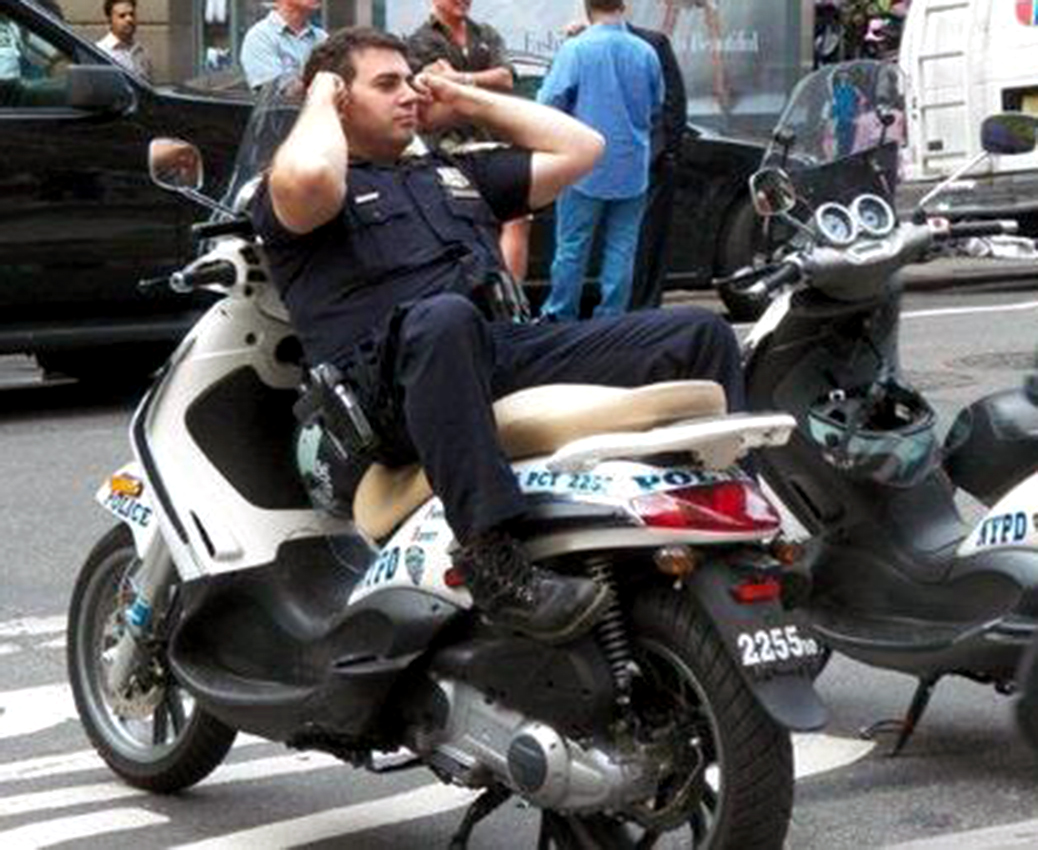 NYC Police using scooters