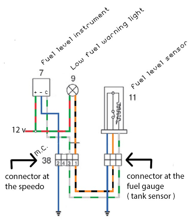 Analog fuel gauge problem and solution