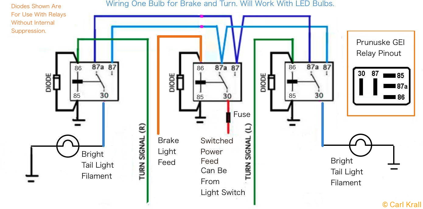 tail light converter wiring diagram wiring diagrams and schematics tail light wiring diagram schematics and how to add turn signals and wire them up
