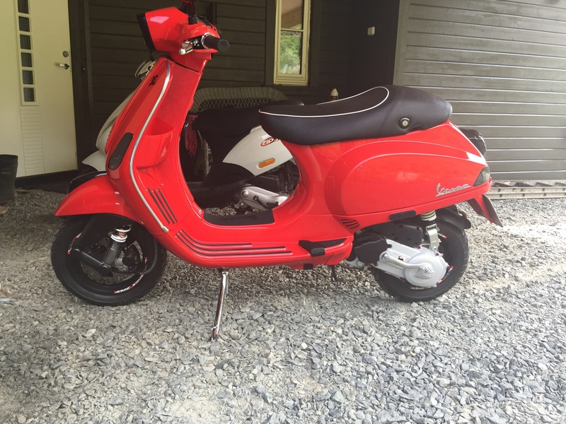 vespa s50 dragon red 2014 2stroke tuning and styling. Black Bedroom Furniture Sets. Home Design Ideas