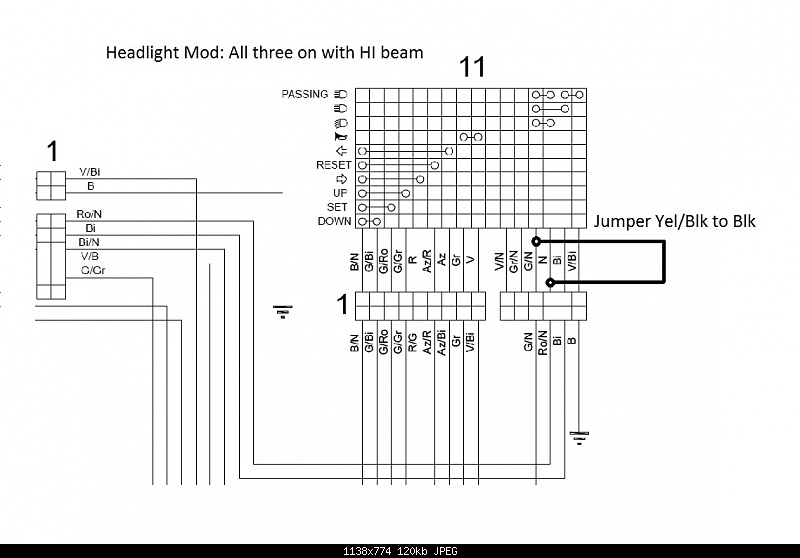 Tuono 1100 LED Headlight Mod