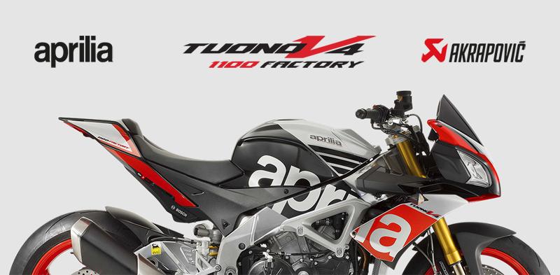 Tuono V4 1100 Factory with Akrapovic exhaust