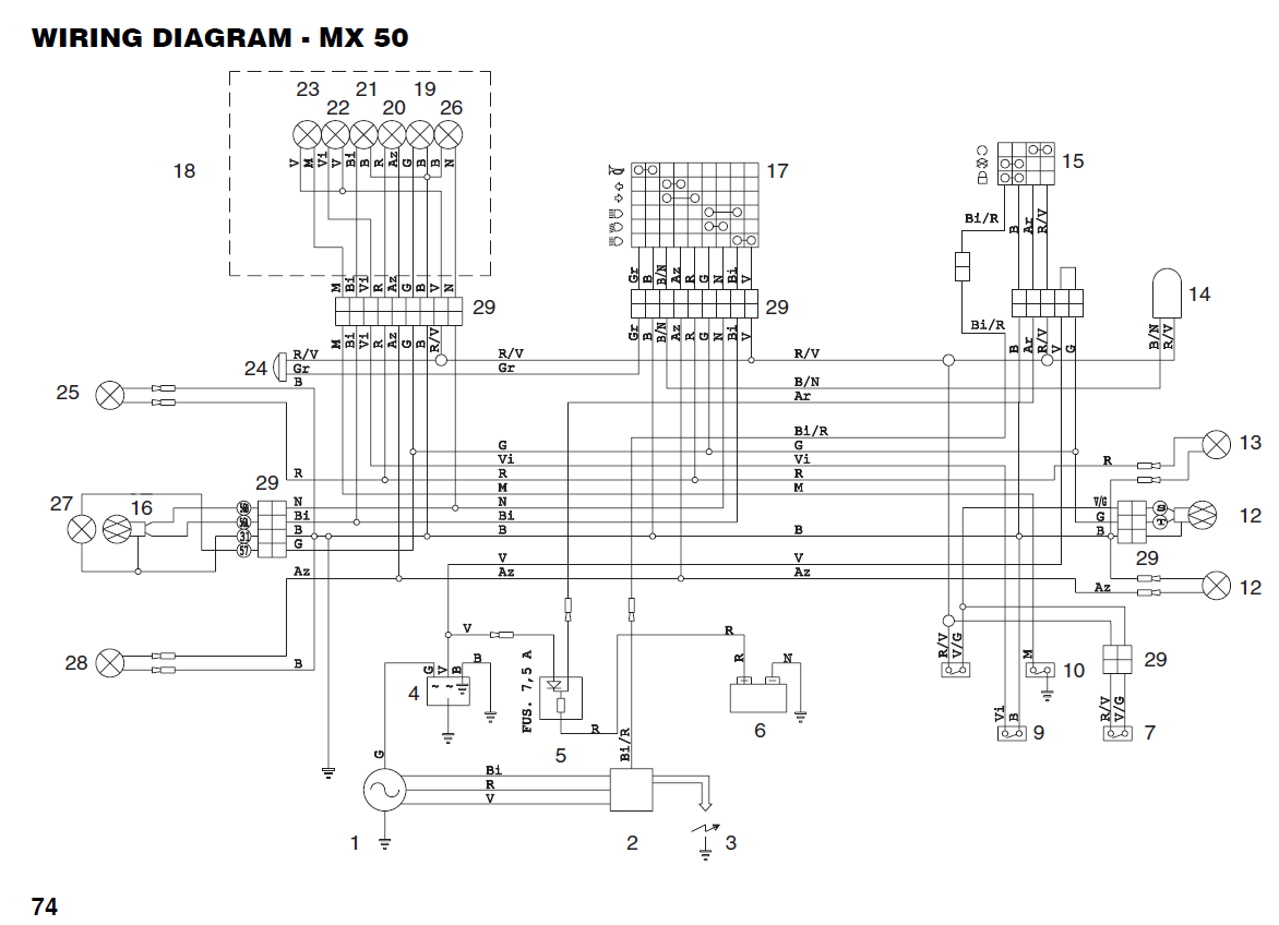 RX 50 wiring