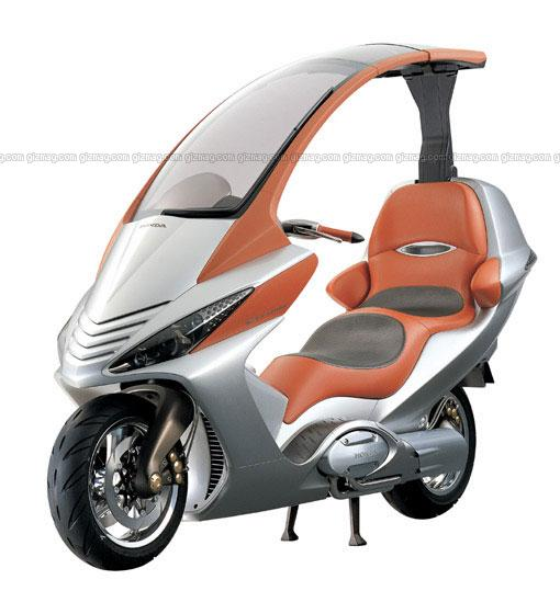 Honda's 750 scooter concept with CVT and electric roof.