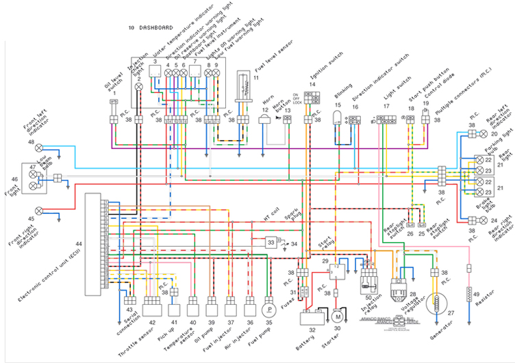 first morini electrical color diagram, Wiring diagram
