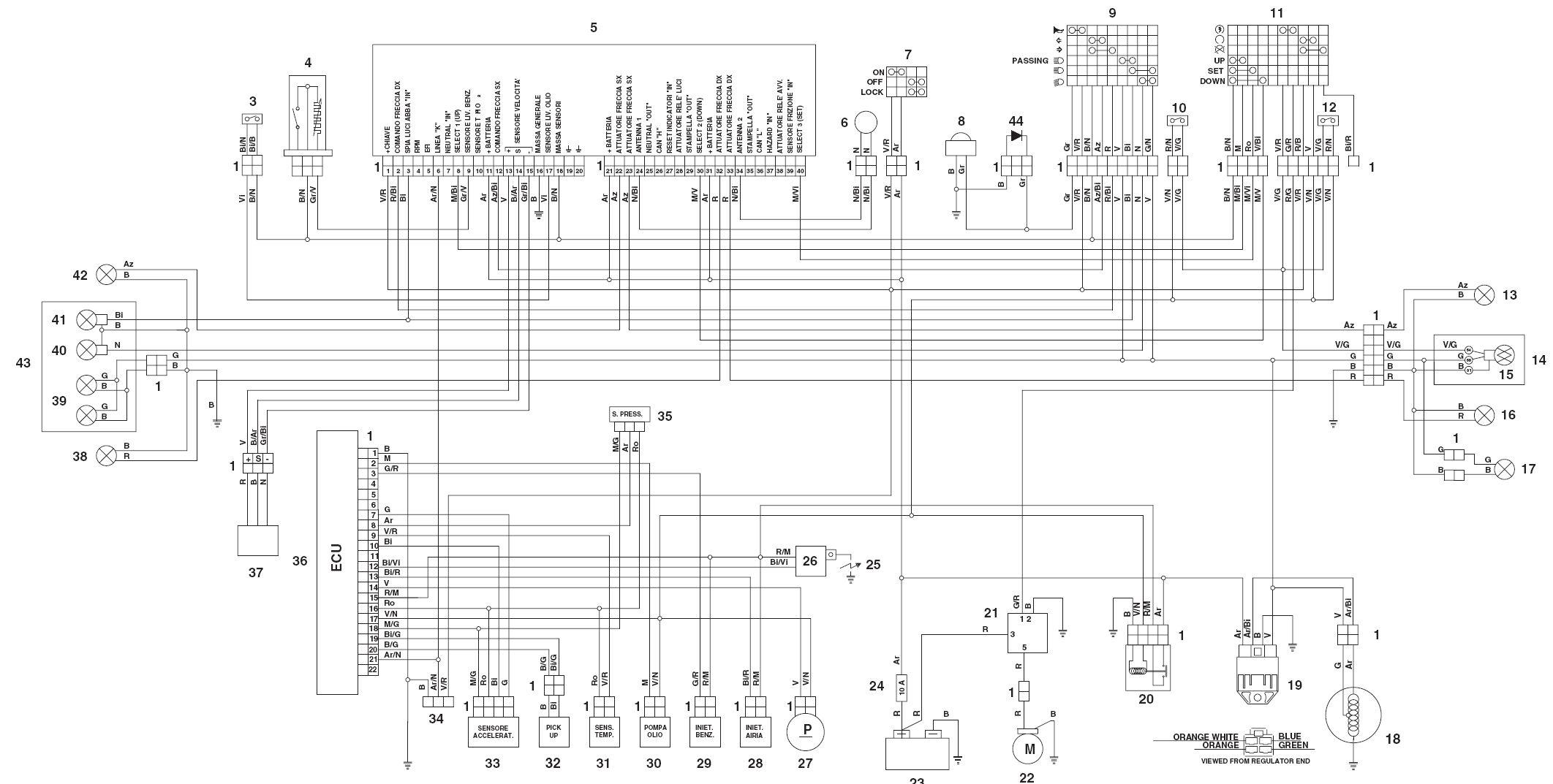 Aprilium 125 Wiring Diagram