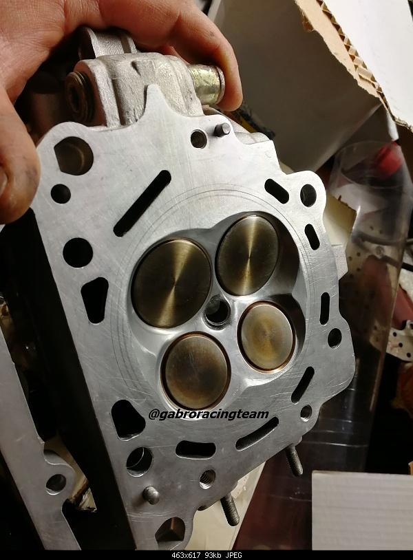 Click image for larger version.  Name:Gabro Racing Aprilia V2 v60 rotax gen2 New head testa ported flussata nimonic valve titanium ber.jpg Views:17 Size:93.1 KB ID:387202